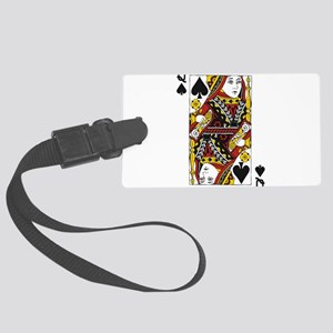 Queen of Spades Large Luggage Tag